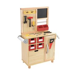 One Step Ahead Kid's Toy Wooden Tool Work Bench | eBay