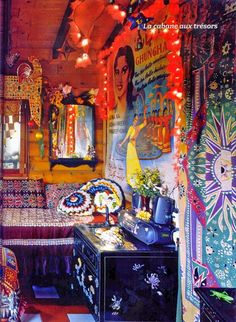 Psychedelic hippie room!