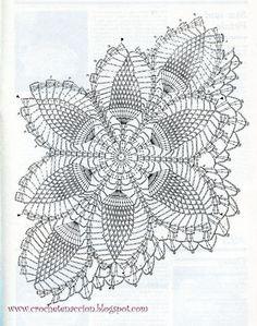 32 Brilliant Picture Of Crochet - Diy Crafts - Bobcik - bobcik Crochet Tablecloth Pattern, Free Crochet Doily Patterns, Crochet Gloves Pattern, Crochet Doily Diagram, Crochet Borders, Crochet Chart, Crochet Motif, Hand Crochet, Filet Crochet