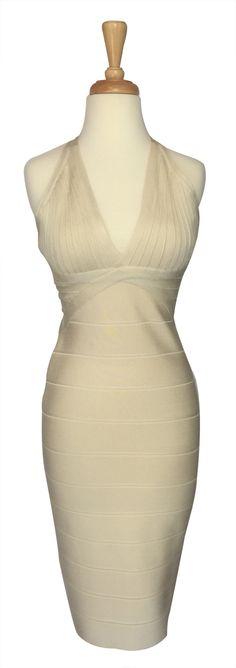 herve leger style navy white body dress