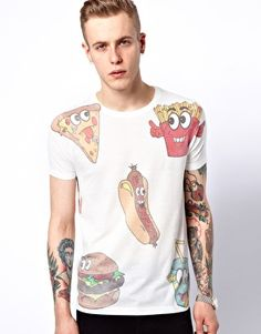 ASOS T-Shirt with Fast Food Print