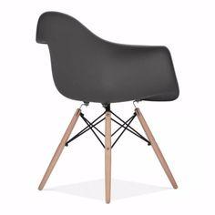 <b>Eames Style DAW Chair, Dark Grey</b>