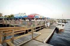 Snag an outdoor table, sip a cool drink and let the kids play in the sand while you enjoy the view of Ponce Inlet at Inlet Harbor Marina