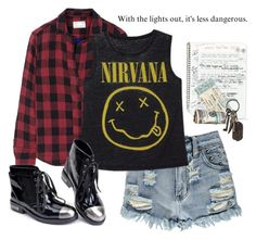 """""""Grunge"""" by beautifulnoice ❤ liked on Polyvore featuring Boohoo, rag & bone and AllSaints"""