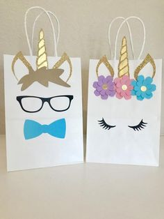 Unicorn Fairytale Boy and Girl Birthday Party Favor Bags🦄 Perfect addition to your Unicorn themed Party!Unicorn Party Favors - It doesn't get much cuter than unicorn goody bags, people.Decorate your own gift bags Unicorn Themed Birthday Party, Unicorn Birthday Parties, Birthday Party Favors, Baby Birthday, First Birthday Parties, Birthday Party Decorations, Bday Girl, Unicorn Party Bags, Fairytale Birthday Party
