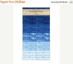 Anniversary Sale Stonehenge Gradations ~Indigo~ Strips Cotton Fabric by Northcott~Fast Shipping Fabric Strips, Stonehenge, Pet Beds, Anniversary Sale, Decorative Pillow Covers, Indigo, Sewing Projects, Cotton Fabric, Pillows