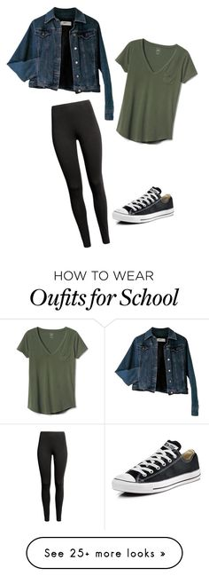"""Going to school when sick"" by dancer0202 on Polyvore featuring Moschino, Converse and Gap"