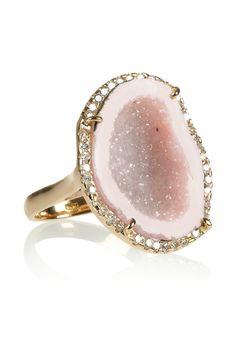 ~<3 ~*   ... Kimberly McDonald|18-karat rose gold, geode and diamond ring
