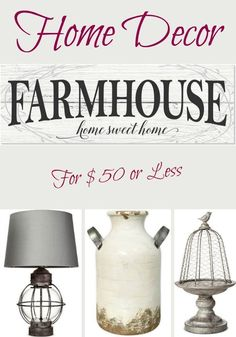 Farmhouse Home Decor for $50 or Less. #Farmhouse #FarmhouseDecor #HomeDecor #affiliatepin #Home #Decor