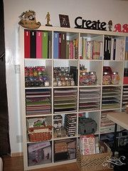 Organizational ideas for my future scrapping room.