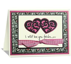 Valentine Card - McGill Inc.Design By Janine Blackwelder  Link Silhouettes & Shadows Hearts on this Valentine Card.
