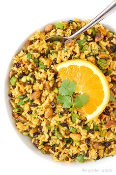 Curried Rice Salad with Orange   The Garden Grazer