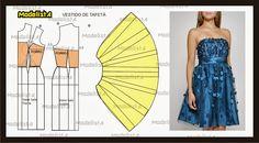 ModelistA: Basic Strapless Cocktail Dress