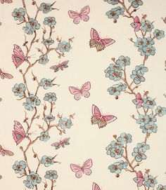 Stunning Butterfly design on this fabric http://www.justfabrics.co.uk/curtain-fabric-upholstery/blue-white-akemi-fabric/