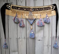 Tribal Belly Dance Tassel Belt Embellished by EmbellishedAssets, $250.00