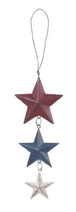 Vertical Hanging Painted Star Chain