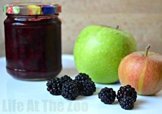 Easy Blackberry and Apple Jam. The kids helped pick, clean and prep the ingredients.