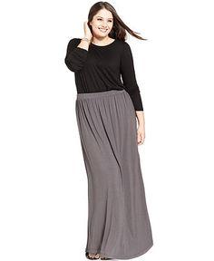 ING Plus Size Long-Sleeve Top & Maxi Skirt - Plus Sizes - Macy's