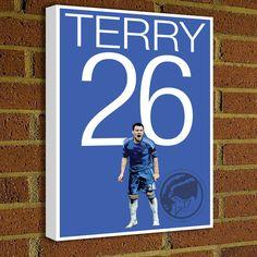 John Terry Canvas Print - English Soccer Poster - Pick Your Size, poster, art, wall decor, home decor, Chelsea Captain, canvas, BPL #soccer #wallart #decor #canvas #art #poster #graphicdesign #soccerart #football #futbol #etsy #g17 #graphics17 #etsy