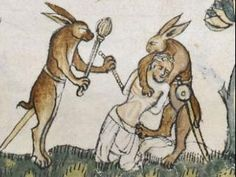 Rascal rabbits ... Medieval depictions of the hare and rabbit were not cute, furry gift-g