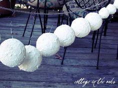 diy faux snow balls, crafts, Faux snow balls drying