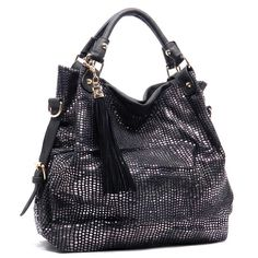 Love this! Python Fashion Tassel Satchel