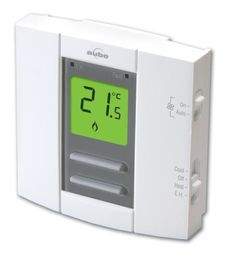 Aube by Honeywell TH149/U Heat and Cooling Non-programmable Thermostat by Honeywell. $45.64. From the Manufacturer                This Aube by Honeywell heating and cooling non-programmable thermostat is compatible with heat pump (1-heat or 1-cool and 2-heat or 1 cool) and HVAC (1-heat or 1-cool) systems. Selection switches: Cool, Off, Heat, Emergency heat. Fan control (on and auto). Keypad lock protects settings from tampering. Emergency heat (2 Heat and 1 Cool) and fau...
