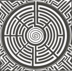 Labyrinth. The spiral tremination at the centre is not unknown in historical…