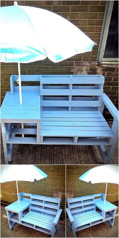 Pallet Furniture Projects pallets patio bench idea 10 - Not every person is blessed with the creative mind, but those who have the skills and creativity should never hesitate to show it to others. Diy Garden Furniture, Diy Pallet Furniture, Refurbished Furniture, Furniture Projects, Furniture Makeover, Furniture Removal, Furniture Stores, Furniture Plans, Furniture Dolly