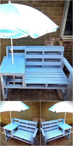pallets patio bench idea 10