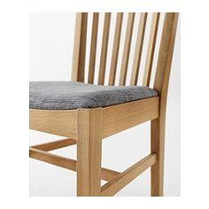 NORRNÄS Stol, ek, Isunda grå IKEA