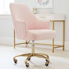 Find cool teen desk chairs and study in stylish comfort. Computer chairs feature adjustable seats and swivel designs to meet all of your seating needs. Desk Chair Teen, Pink Desk Chair, Diy Chair, Desk Chair Comfy, Cool Desk Chairs, Dining Chairs, Soft Chair, Ikea Chair, Pink Chairs