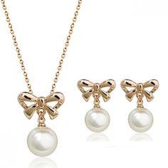 Fashion imitation pearl jewelry set 76791+83865