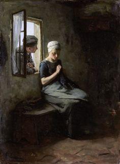 The Fisherman's Courtship - Albert Neuhuys 1880