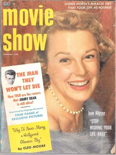 Movie Show Magazine September 1956 June Allyson James Dean Rock Hudson Doris Day