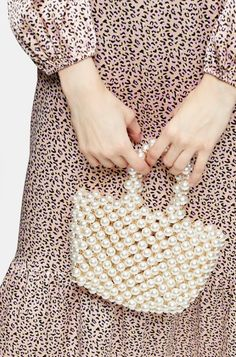 We are obsessed with the pretty pearl trend. This exaggerated pearl grab bag is such a feminine and ladylike accessory to Plastic. My Bags, Purses And Bags, Beautiful Handbags, Grab Bags, Bag Accessories, Asos, Polka Dots, Topshop, Feminine