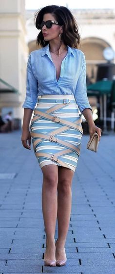 office style perfection: shirt + skirt