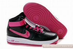 premium selection b5691 2cd39 334031 061 Nike Womens Air Force 1 High Black Vivid Pink White NAFO107 Air  Force One