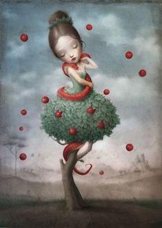 the beautiful and bizarre world of nicoletta ceccoli - contemporary artist - painter - surrealistic artwork Art Pop, Arte Lowbrow, Art Fantaisiste, Art Mignon, Ouvrages D'art, Art Et Illustration, Whimsical Art, Cute Art, Amazing Art