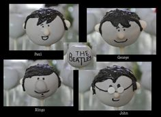 The Beatles cake pops