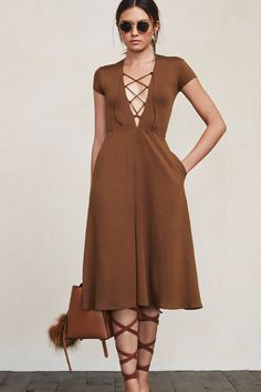 Sometimes it's just that easy. The Sandy Dress is that dress you'll reach for everyday no matter where you're headed. It's ladylike but with a bit of a daring neckline - oh, and it also happens to feel like a dream. https://www.thereformation.com/products/sandy-dress-cocoa?utm_source=pinterest&utm_medium=organic&utm_campaign=PinterestOwnedPins