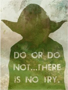 wisdom | Wisdom from Yoda | ok, so yoda is not human...but as in all things, there's always an exception!
