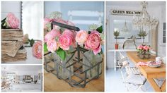 Style romantic vintage and shabby chic