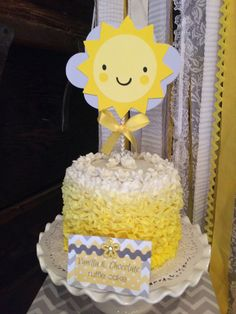 SUNSHINE SUN cake topper  You are my by CreativePartyBanners, $12.00