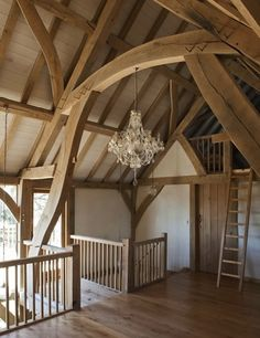 Oak timber framing at Castle Ring