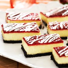 Raspberry preserves and white chocolate are the perfect combination in this heavenly cheesecake dessert. #recipe