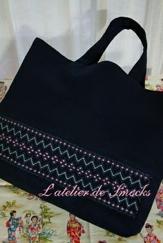 Schoolbag~スモッキング刺繍 L'atelier de Smocks