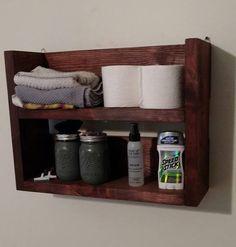 Rustic Wood Bathroom Shelf