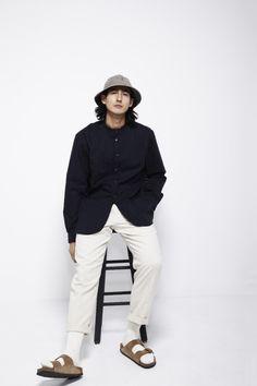 Menswear Japanese style Birkenstocks bucket hat