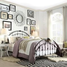Inspire Q Lacey Round Curved Double Top Arches Victorian Iron Metal Bed (Full Size) Brown